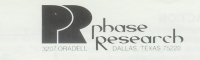 Phase Research logo